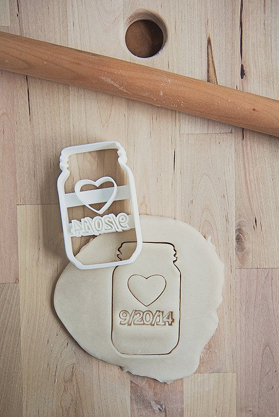 Custom Wedding Date Mason Jar Cookie Cutter 3D by Printsicle, $30.00