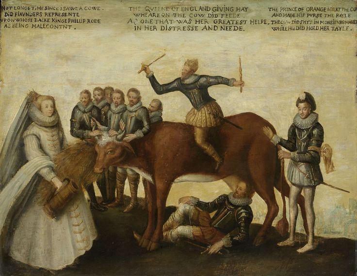Het melkkoetje: satire op het uitbuiten der Nederlanden door de prins van Oranje, anoniem, ca. 1633 - ca. 1639