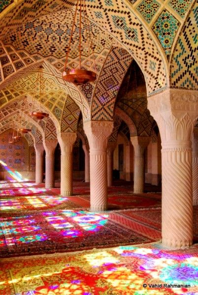 shiraz mosque, iran. have been trying to find a way to get to iran for years... someday?