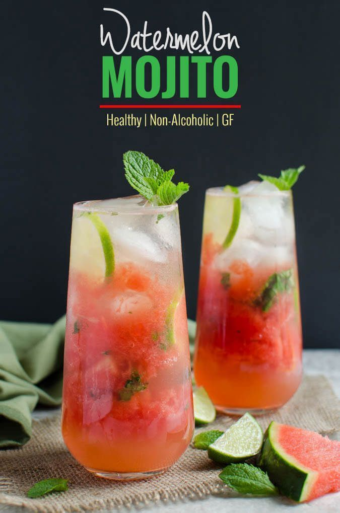 Watermelon Mint Mojito - Refreshing, healthy and non-alcoholic drink to enjoy hot days. Can easily turned into alcoholic drink if you want to | http://watchwhatueat.com