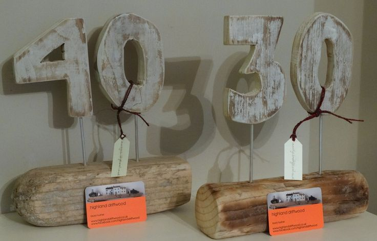 Driftwood Numbers - unique gifts for special occasions :)