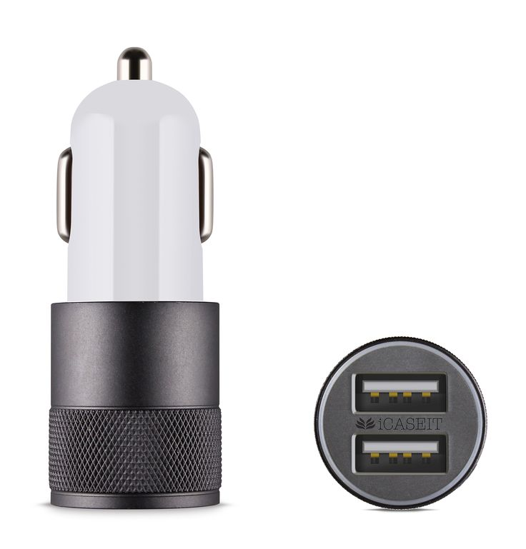 Amazon.com: iCASEIT 4.8A / 24W 2-Port Rapid USB Car Charger with Advance Technology for iPhone, iPad Air 2, Samsung Galaxy S6 / S6 Edge, Nexus, HTC M9, Motorola, Nokia and More (GREY): Car Electronics