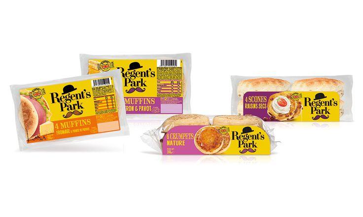 FRESH FOOD VILLAGE | REGENT'S PARK | muffins, crumpets et scones  #Crumpets #cuisineanglaise #designpackaging #alimentaire #HotshopAgenceDesign #Packaging #IdentiteVisuelle #Muffins #RegentsPark #Scones #britishfood