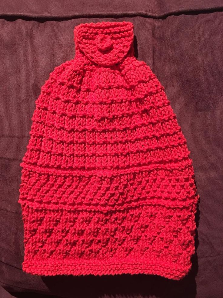 Hanging Kitchen Towel | Knit kitchen towel pattern ...