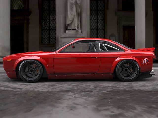 Rocket Bunny Widebody Kit Transforms 90's Nissan 240SX Into 70's Plymouth Barracuda