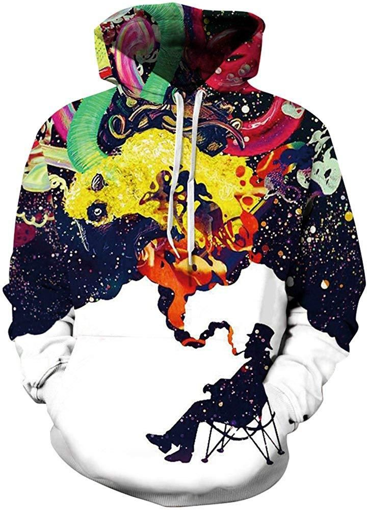 Pandolah Men s Patterns Print 3D Sweaters Fashion Hoodies Sweatshirts  Pullover ac3042f0e