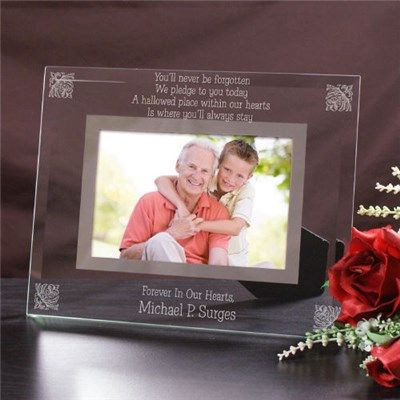 personalized memorial picture frame engraved glass frame of sympathy