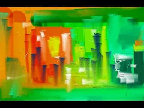 modern art_sez speed painting i paint here man shows that how he spoil the nature its Arial view on my vision.