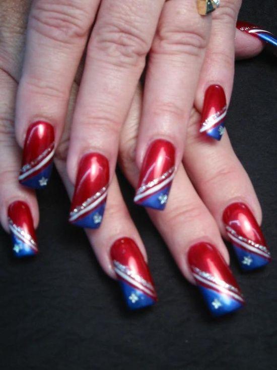 patriotic nail designs | Nail Art – Patriotic / The Red, White and Blue nail art design. Love ...