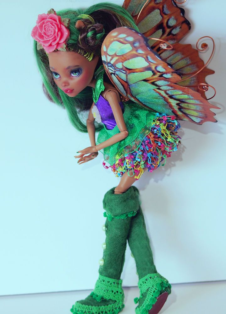 """Greenwild"" Ooak Monster High Custom Doll repaint redress by artist Bianka #DollswithClothingAccessories"