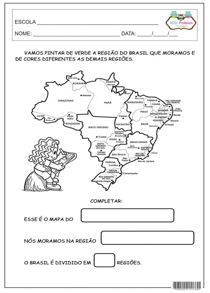 Atividades Sobre As Regioes Brasileiras Em Sala De Aula