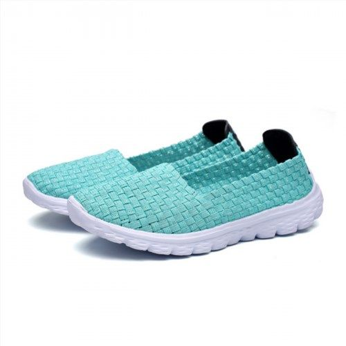 Comfortable Knitting Pure Color Weave Flat Casual Shoes For Women is cheap  and comfortable. There are other cheap women flats and loafers online.