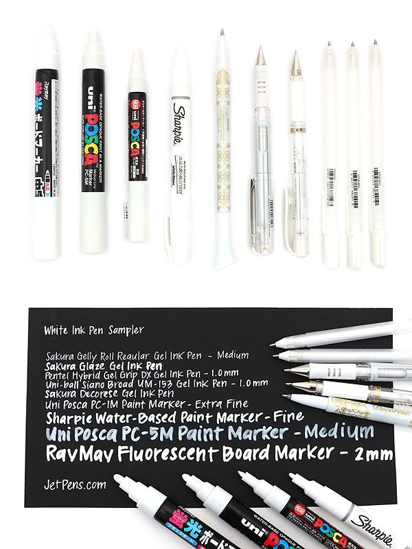 White Ink Pens Are A Valuable Tool For Artists Crafters Designers And More Due To Their Versatility And Wide Range Artist Pens Artist Supplies Gel Ink Pens
