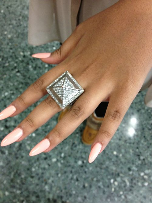 almond nails design | nail polish nail lacquer oval nails nails ring jewelry pyramid