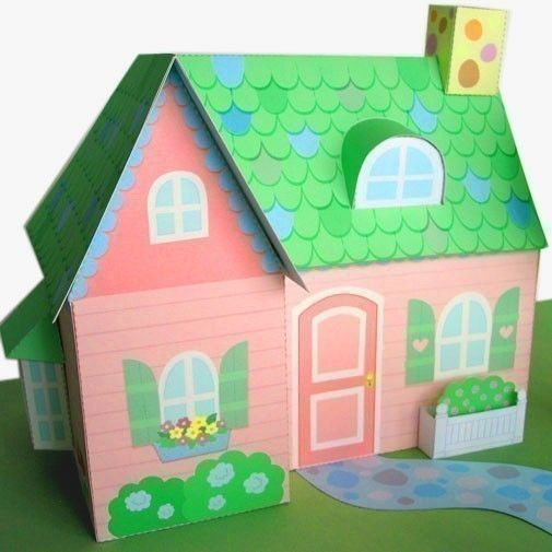 how to make paper dollhouse cut out