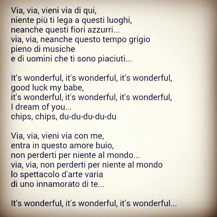 Via con me (It's wonderful) Paolo Conte