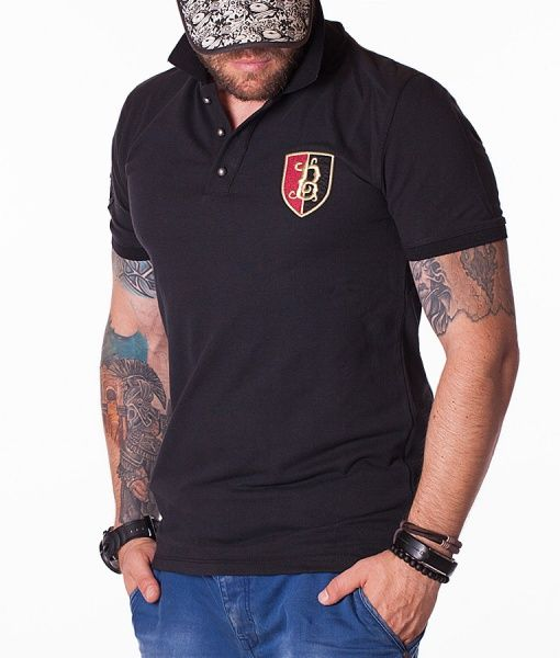 Balmain Tricouri Polo - B tricou polo negru