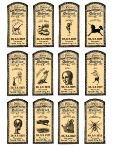 I love the look of old apothecary labels and thought for Halloween I'd have a little fun. These were so much fun! I looked up silly doctors names and decided Dr. R. U. Next would be make a gr…