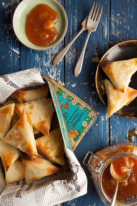 Squash, Spinach & Feta Samosas: Homage to Captain Phillips