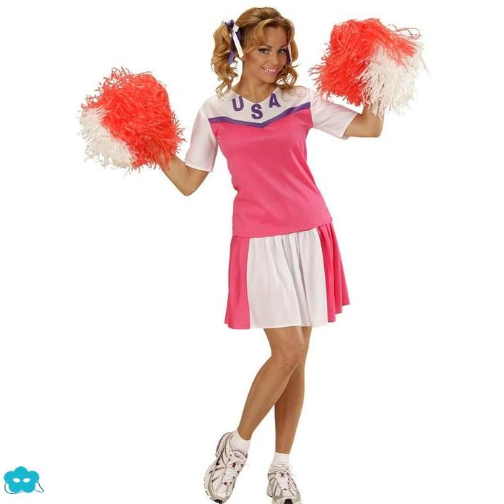 Disfraz de animadora rosa para mujer