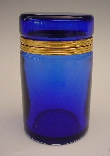 Gorgeous Antique French Cobalt Blue  Tall Hinged Box