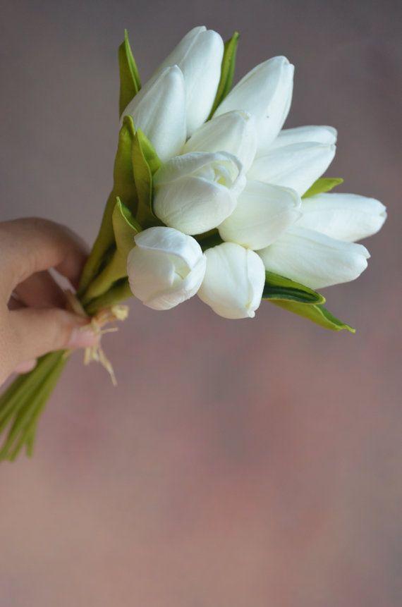 Mini tulipani centrotavola vero tocco seta bouquet da sposa viola giallo bianco rosso seta tulipani fiori matrimonio