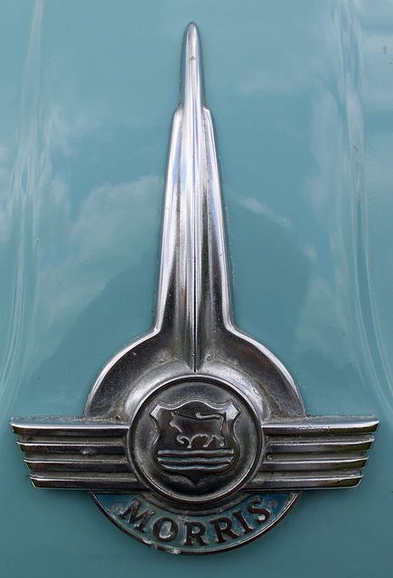 Morris Minor 1000 vintage police car badge emblem by Daves Portfolio. #coolcars.QuirkyRides.com