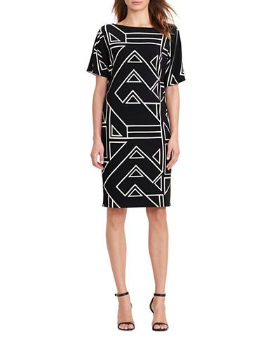 Women | New Arrivals  | Geometric-Print Slip Shift Dress | Hudson's Bay