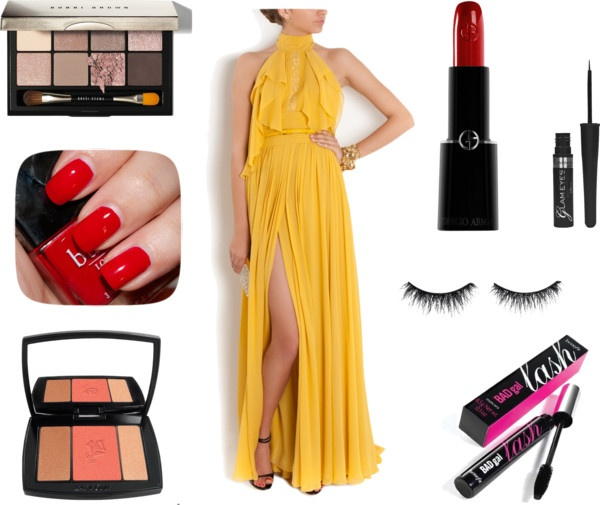 """Red Carpet ready - Yellow Gown"" by corallista on Polyvore"
