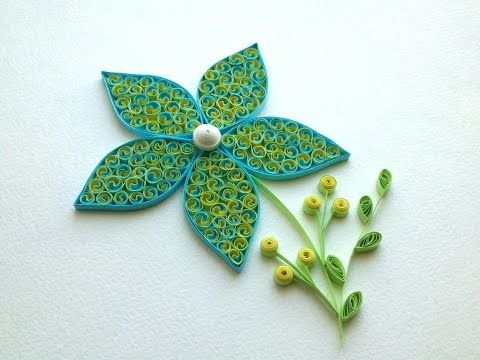 Quilling Tutorial: Quilling flowers tutorial. Quilling art. Quilling flowers design. - YouTube