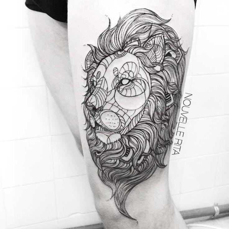Line Drawing Animal Tattoos : Meilleures idées à propos de tatouages géométriques sur