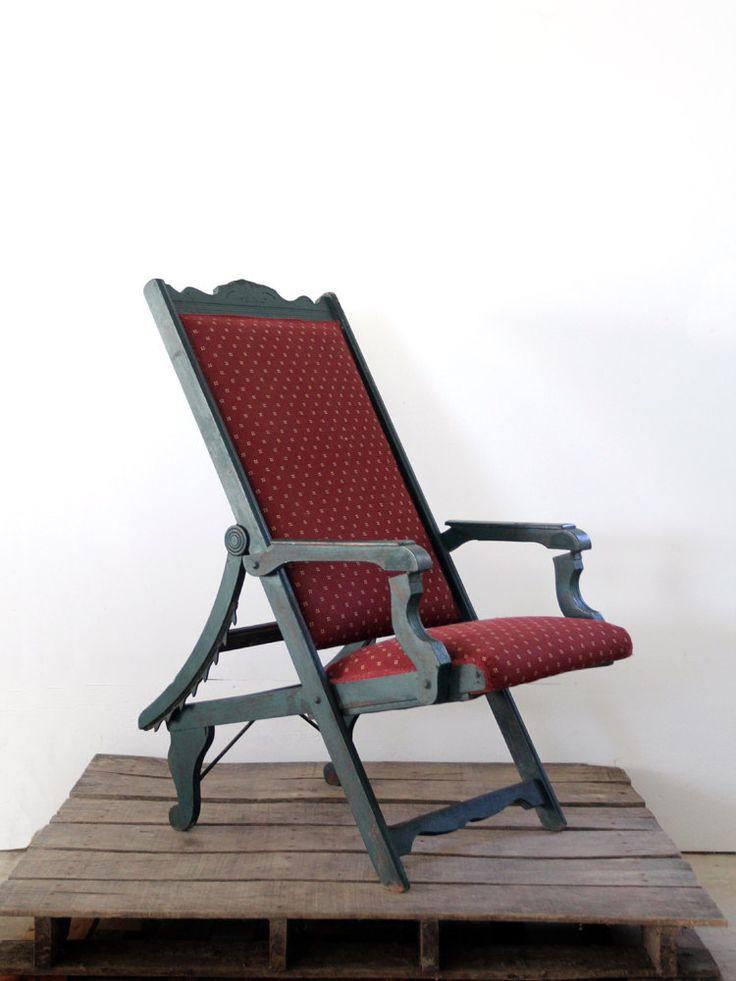 Victorian Lawn Chair 1800s Recliner Chair Antique Chair
