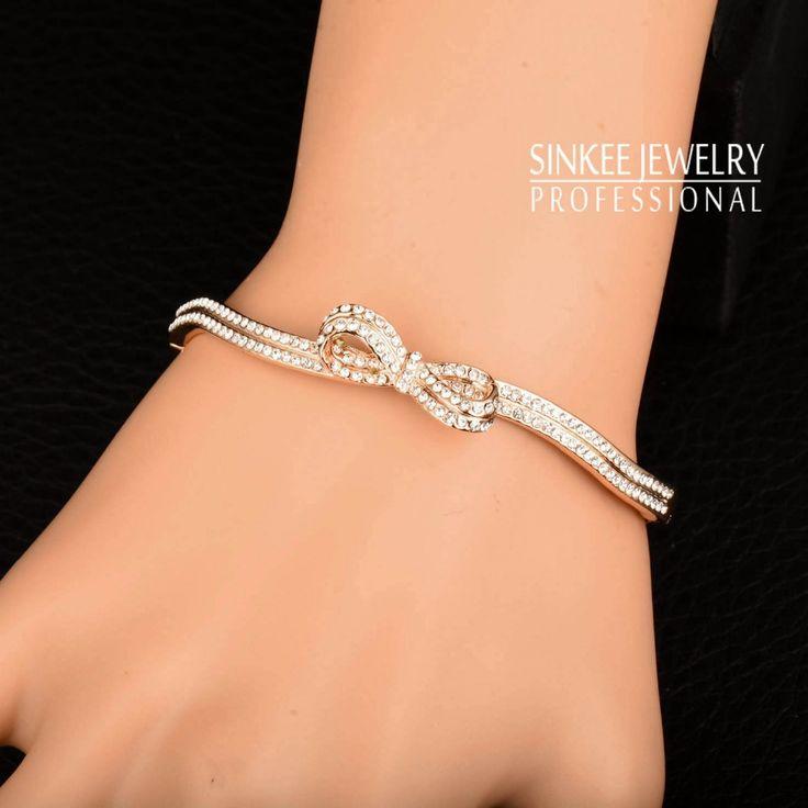 Tmrow 1pc Wave Open Bracelet for Women Wedding Jewelry Accessories Gold 87d6dfe4c70f