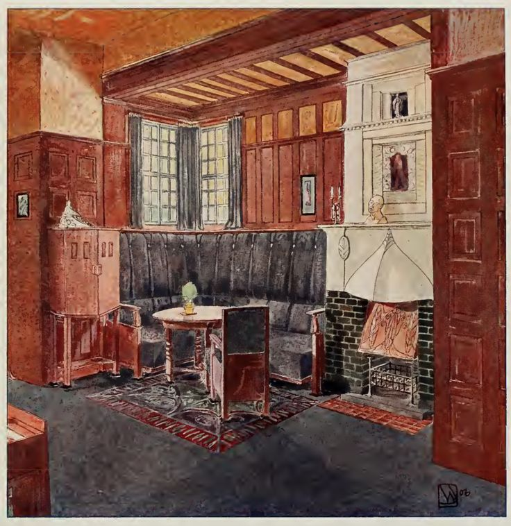344 best images about house interiors early 1900s on for Craftsman farmhouse interior