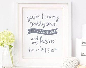 Mi héroe personalizado grabado - día del padre regalo - impresiones del día del padre - primer día del padre - regalo para papá - regalo de cumpleaños para papá