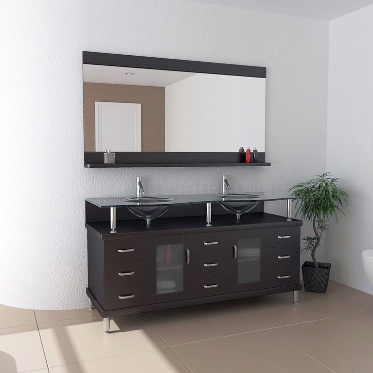 Images On Rocco Modern Double Sink Bathroom Vanity MD by Virtu USA