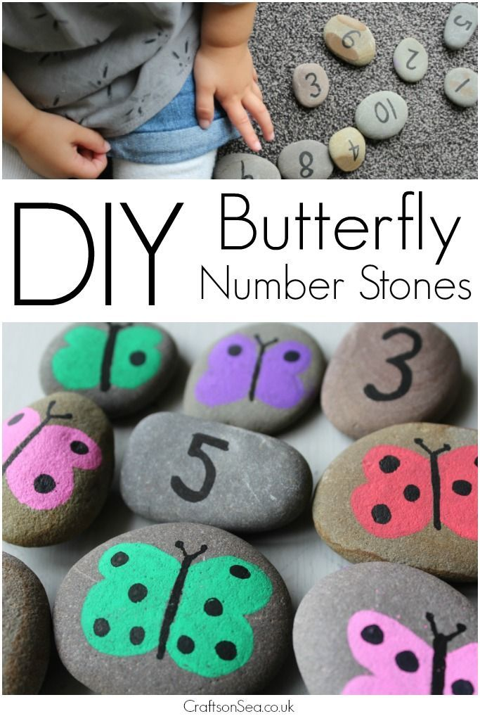 Follow this simple tutorial for DIY number stones and in ten minutes you can make gorgeous butterfly stones to help support your childs numeracy skills.