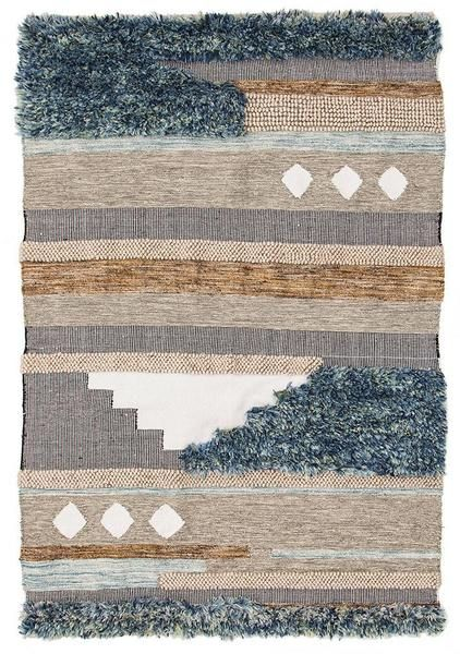 Combining tribal and scandinavian design with eco friendly cotton and wool is a great combination in this rug: Zerzura 3760 Multi Coloured Modern Wool and Cotton Flatweave Designer Rug