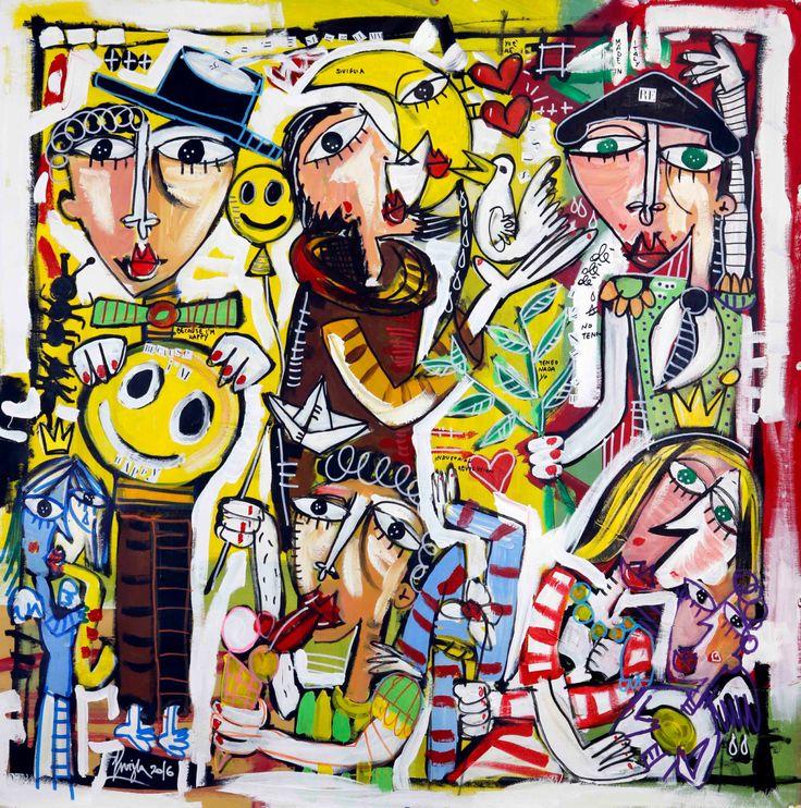 Original modern painting on canvas sacral art home furnighing modern art smile kiss torero di paintingsiviglia su Etsy