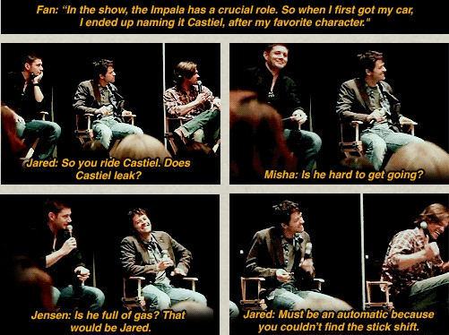 Fan: ''In the show, the Impala has a crucial role. So when I first got my car, I ended up naming it Castiel, after my favorite character.''