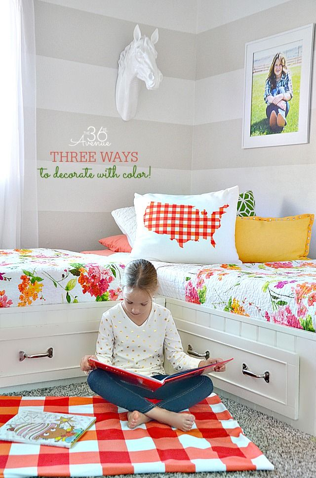 Girls Bedroom Tour and Decor Ideas by the36thavenue.com #shutterflydecor