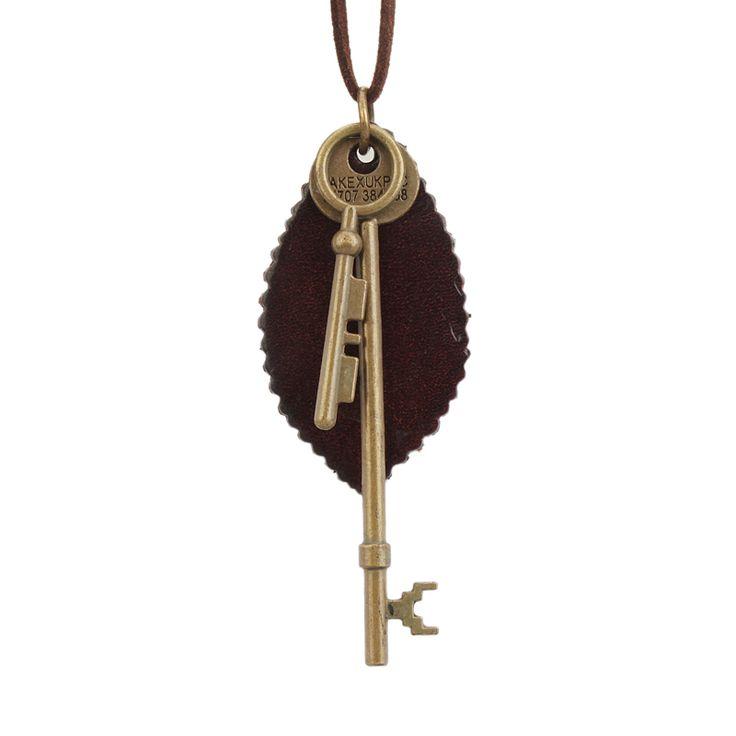 Летний стиль ювелирные изделия винтаж рок панк мода женщина колье с ключиком оставить кулон колье ожерелье ожерельекупить в магазине Aaron JewelryнаAliExpress
