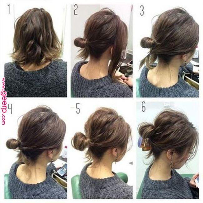 10 Updos Tutorials On Pinterest To Look Stunning Short Hair Up Short Hair Ponytail Short Hair Updo