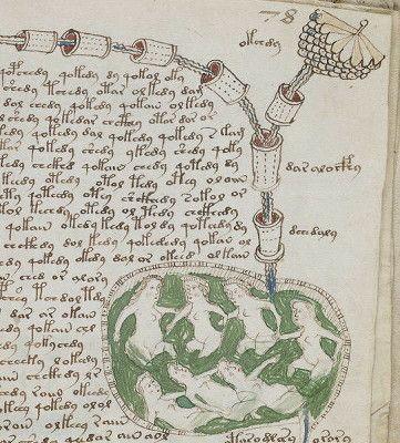 いまだ解読されていない歴史的な10種の暗号 - GIGAZINE-1912年にローマ近郊の寺院でアメリカ人の古書商ウィルフリッド・ヴォイニッチにより発見された232ページの古文書。全文が暗号とおぼしき未知の文字で書かれ、カラーの挿絵には正体不明の植物や薬草のレシピとおぼしきもの、天体図のようなものやパイプのようなものに収まった奇妙な人々などが描かれているそうです。14世紀から16世紀頃に作成されたと考えられています。