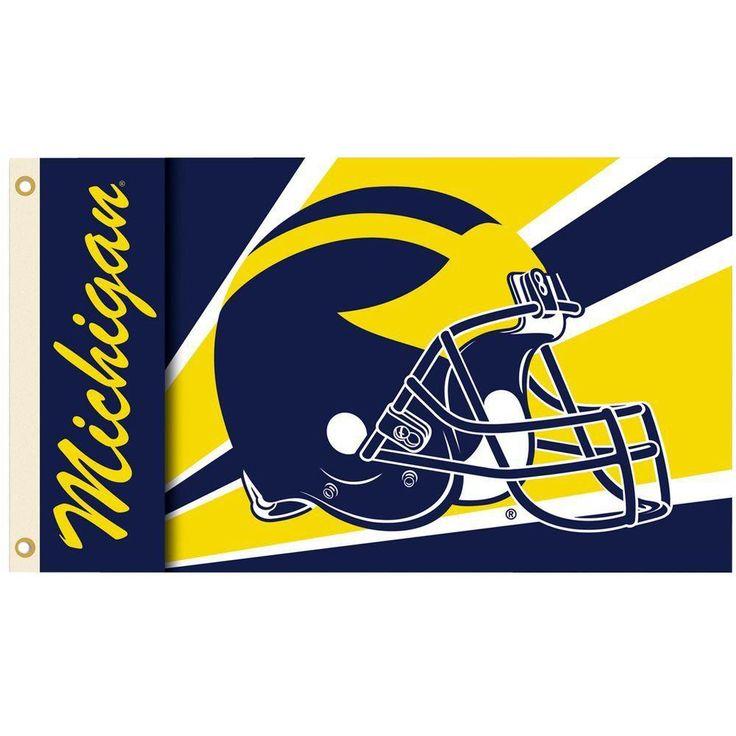 Ncaa 3 ft. x 5 ft. Helmet Michigan Flag