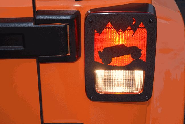 Jeep Tweaks Tail Light Guards Terrain Design in Black for Jeep Wrangler JK 2007-2016 2/4 Door