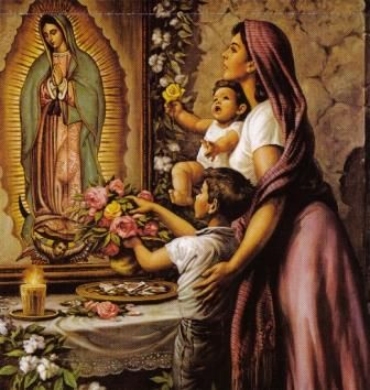 virgen maria. Feast of Our Lady of Guadalupe, Dec. 12.