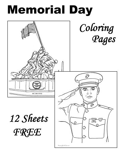 Memorial Day coloring pages - A Day of Remembrance