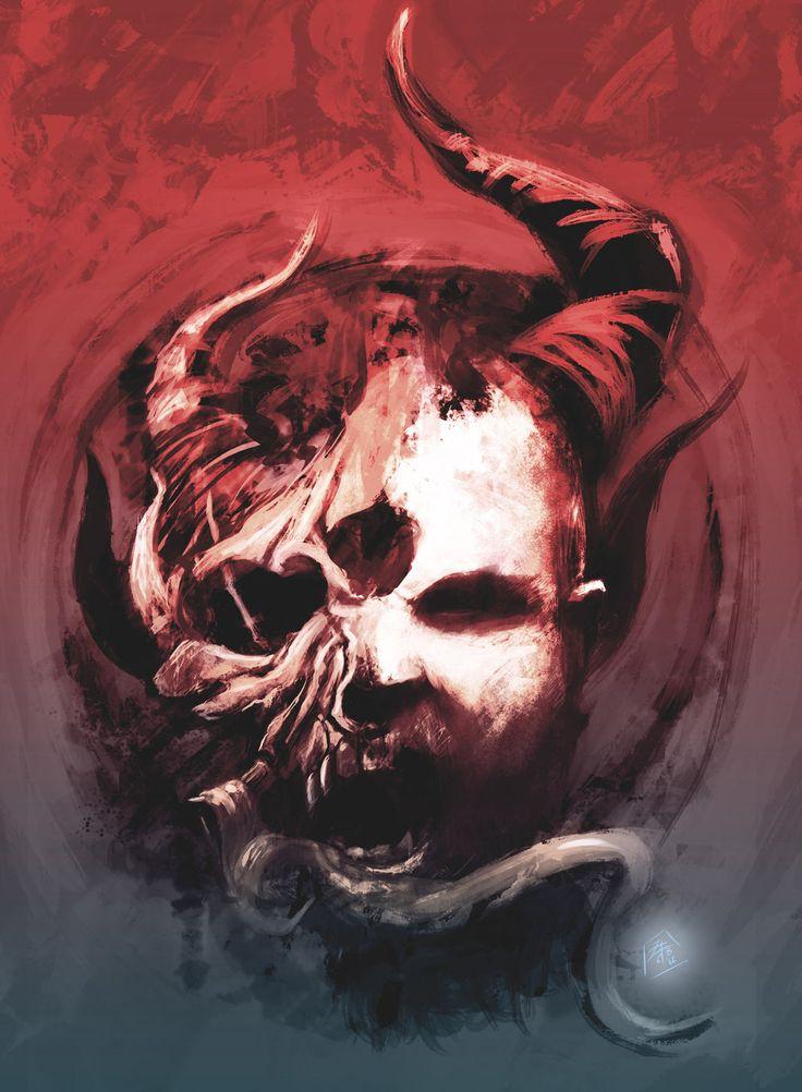 Artists impression of the band Demon Hunter