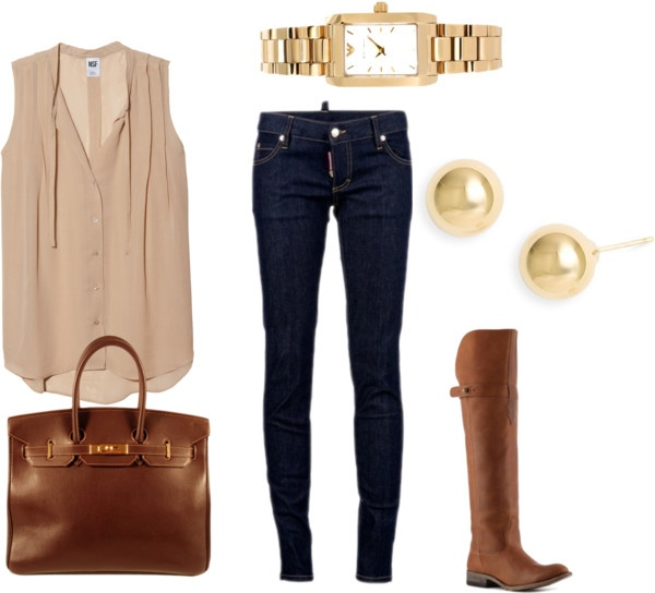 Love this: Blouses, Casual Outfit, Casual Friday, Dreams Closet, Shirts, Riding Boots, Fall Outfit, Fall Fashion, Brown Boots